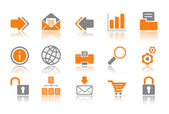 Web and Internet icons - orange series — Stock Vector