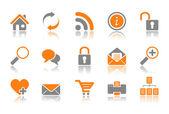 Web and Internet icons - orange series — Stock Vector