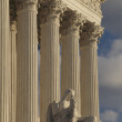 Royalty-Free Stock Photo: Supreme Court, USA, Detail, Vertical