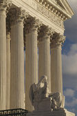 Supreme Court, USA, Detail, Vertical — Stockfoto