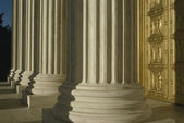 Supreme Court, USA, Detail of Columns and front door — Stock Photo