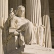 Statue at US Supreme Court - Stock Photo