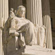 Statue at US Supreme Court — Stock Photo