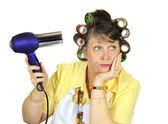 Frumpy Bored Housewife — Stock Photo