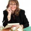 Businesswoman Lunch — Stock Photo