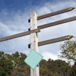 Blank Sign Post — Stock Photo