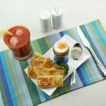 Boiled Egg Breakfast — Stock Photo