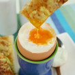 Toast Dipped In Egg — Stock Photo