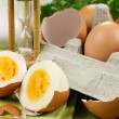 Stock Photo: Hard Boiled Eggs