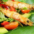 Chilli Shrimp Skewers — Stock Photo