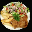 Hearty Chicken Schnitzel — Stock Photo