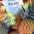 Stock Photo: Pineapples At Markets