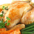 Roast Chicken And Vegetables — Stock Photo