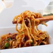 Take Away BBQ Noodles - Stock Photo