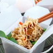 Take Out Chinese Noodles — Stock Photo