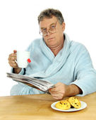 Grumpy Middle Aged Man — Stock Photo