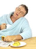 Nerdy Man Asleep — Stock Photo