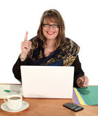 Number One Businesswoman — Stock Photo