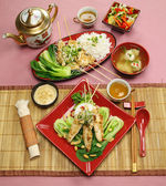Asian Chicken Skewers — Stock Photo