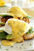 Bacon And Egg Benedict — Stock Photo