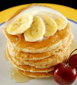 Banana Pancakes — Stock Photo