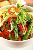 Beef Noodle Stirfry — Stock Photo