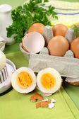 Cracked Boiled Eggs — Stock Photo