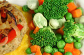 Chicken Patty With Vegetables — Stock Photo