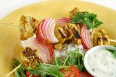 Chicken Tandoori Skewers — Stock Photo
