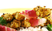Chicken Tandoori Skewers — Stock Photo