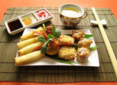 Dimsums And Dips — Stock Photo