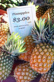 Pineapples At The Markets — Stock Photo