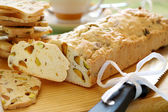 Sliced Pistachio Bread — Stock Photo