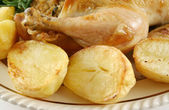 Chicken Drumstick And Potatoes — Stock Photo