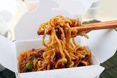 Take Away BBQ Noodles — Stock Photo