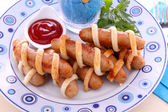 Sausages Wrapped In Pastry — Stock Photo