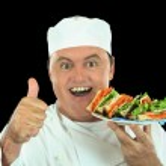 Messy Salad Sandwich Chef — Stock Photo #11568868