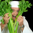 Peekaboo Chef — Stock Photo