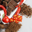 Chillies And Chocolate — Stock Photo