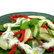 图库照片: Cucumber And Mint Salad