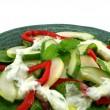 キュウリとミントのサラダ — ストック写真