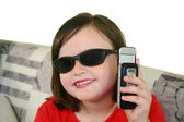 Child With Cell Phone 3 — Stock Photo