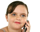 Child With Cell Phone — Stock Photo