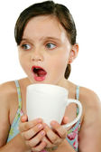 Child With Coffee Mug 1 — Stock Photo