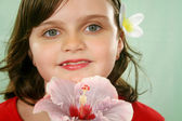 Child With Flower 1 — Stock Photo