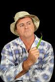 興味津 々 の農夫 — ストック写真
