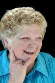 Beaming Senior Lady — Stock Photo