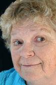 Surprised senior Lady — Stock Photo