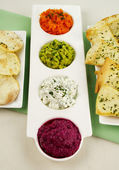 Assorted Dips — Stock Photo