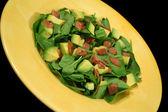 牛油果和培根沙拉 3 — 图库照片